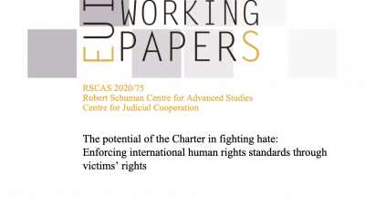 Permalink to:The potential of the EU Charter in fighting hate